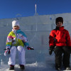 Oliver and Claudia Explore the Snowfort