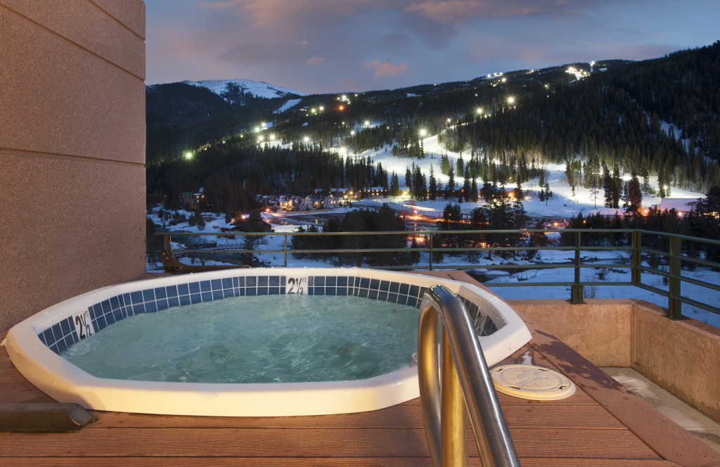 Inn Night Ski Hot Tub view