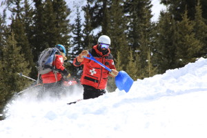 ski patrol avi dog shovel