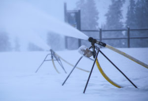 Snowmaking is underway at the summit!